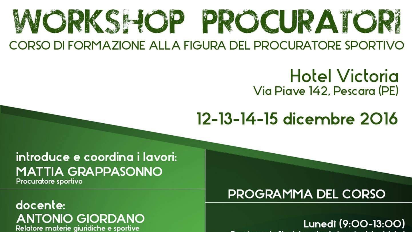 Raffaele auriemma al 39 workshop procuratori in programma a for Gettare i piani del workshop