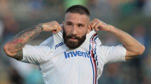 Lorenzo Tonelli con la maglia della Sampdoria