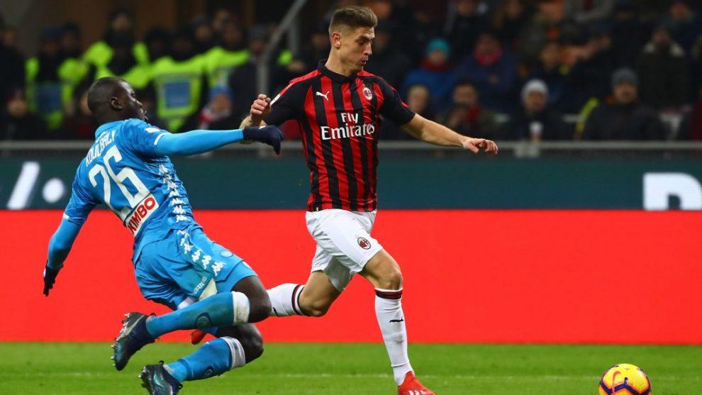Koulibaly durante Milan-Napoli