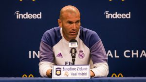 Zinedine Zidane in conferenza