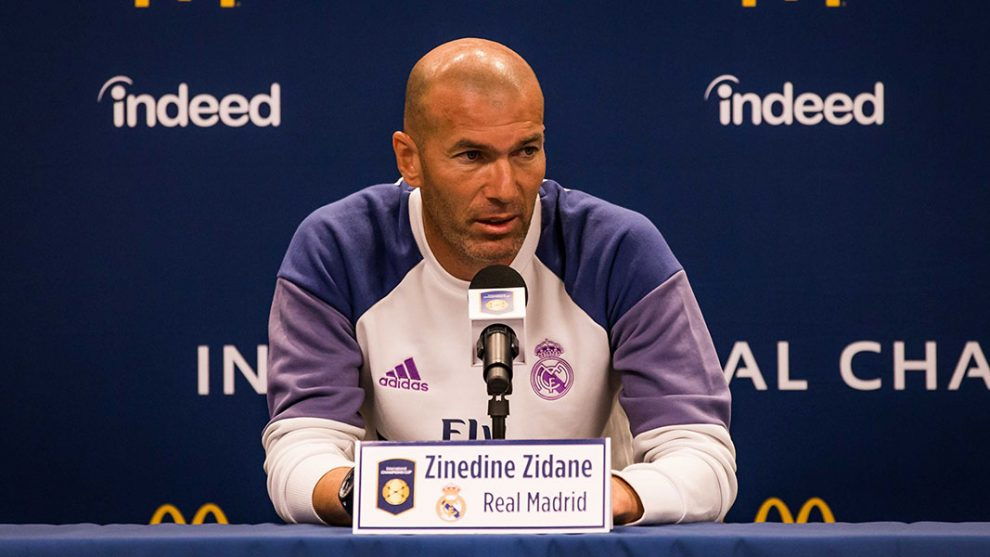 Zinedine Zidane in conferenza