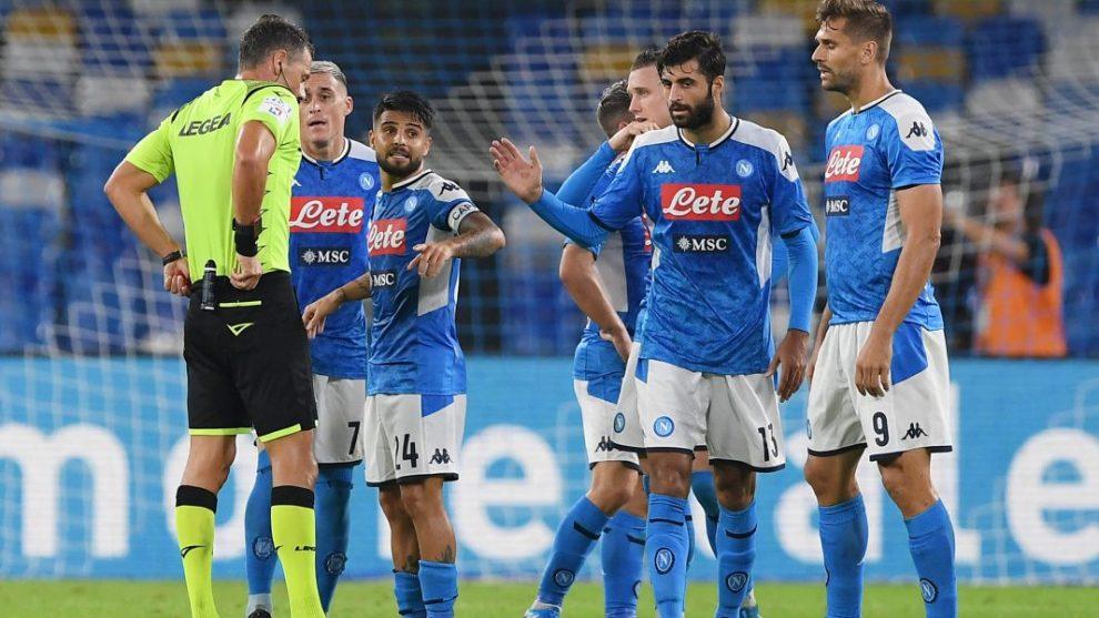 Napoli, giocatori al figlio di De Laurentiis: