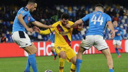 Napoli-Barcellona champions